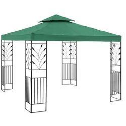 Uniprodo Pawilon ogrodowy - ornament - ciemnozielony UNI_PERGOLA_3X3G - 3 LATA GWARANCJI