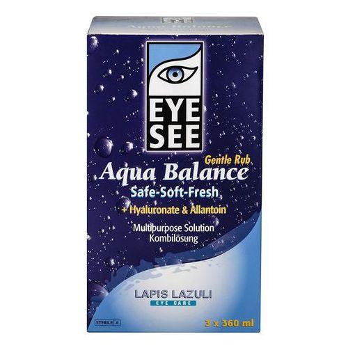 Płyny pielęgnacyjne do soczewek, Aqua Balance z hialuronianem i alantoiną 3 x 360 ml