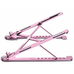Składana podstawka stojak podpórka do laptopa MacBooka L (ekran od 14'' do 17,3'') różowy - L