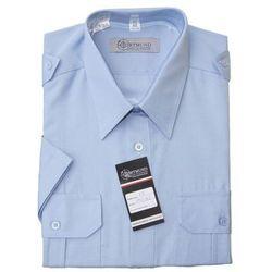 Koszula niebieska Policji - krótki rękaw (hetman)