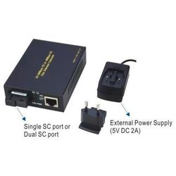 WT-3061A, 10/100 ETHERNET CONVERTER SIMGLE SC PORT FOR SINGLE-MODE