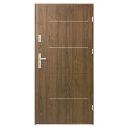 Drzwi zewnętrzne stalowe Elegance 90 cm prawe orzech