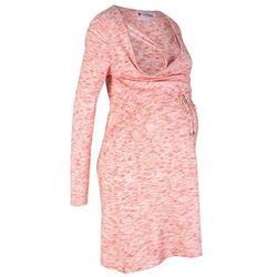 Sukienka dzianinowa ciążowa i do karmienia piersią bonprix brązowy marsala