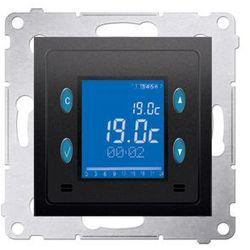 Regulator temperatury Simon 54 D75817.01/48 z wyświetlaczem czujnik wewnętrzny antracyt Kontakt-Simon