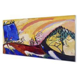 Szklany Panel Sztuka wiejski krajobraz abstrakcja