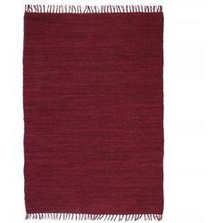 Ręcznie tkany dywanik Chindi, bawełna, 160x230 cm, burgundowy