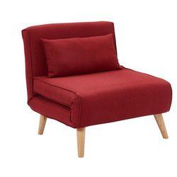 Fotel rozkładany POSIO z tkaniny – Kolor czerwony