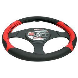 Pokrowiec na kierownicę 37-39,5 Luxury czerwony