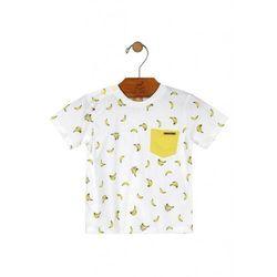 T-shirt niemowlęcy biały w banany 5I38A1 Oferta ważna tylko do 2023-07-30