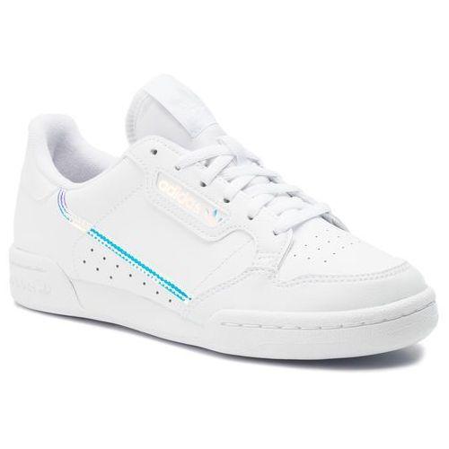 Buty sportowe dla dzieci, Buty adidas - Continental 80 J EE6471 Ftwwht/Ftwwht/Cblack