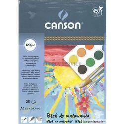 Blok do malowania CANSON A4 120g. - biały