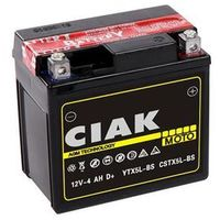 Akumulatory do motocykli, Akumulator motocyklowy CIAK YTX5L-BS 12V 4Ah 70A P+