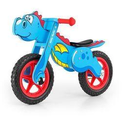 Rowerek biegowy drewniany dino blue