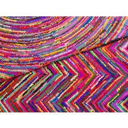 Dywan - kolorowy - poliester - bawełna - shaggy - 80x150 cm - KARASU
