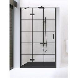 Drzwi prysznicowe 90 cm D-0271A New Renoma Black New Trendy DODATKOWY RABAT W SKLEPIE NA KABINĘ