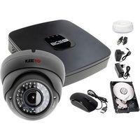 Zestawy monitoringowe, Monitoring BCS polski producent rejestrator BCS-XVR0401E 1x Kamera LV-AL40HVD 1TB akcesoria