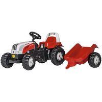 Traktory dla dzieci, Rolly Toys Traktor Steyer Kid z przyczepą