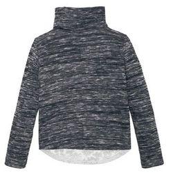 Shirt z golfem i koronkową wstawką bonprix czarno-biel wełny