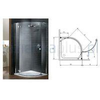 Kabiny prysznicowe, Radaway Almatea pdj 90 x 90 (30702-01-01N)