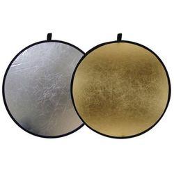Blenda okrągła 2w1 złoto-srebrna 80cm