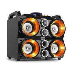 Fenton MDJ200, imprezowy system nagłośnieniowy, 4 głośniki 4-calowe, akumulator 2000 mAh, 150 W, czarny/pomarańczowy