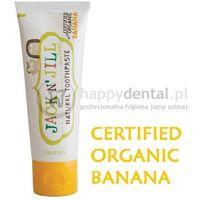 Pasty do zębów dla dzieci, JACK-N-JILL organiczny BANAN + Xylitol 50g - naturalna pasta do zębów dla dzieci z dużą zawartością Xylitolu