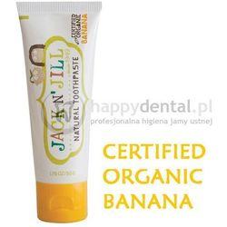 JACK-N-JILL organiczny BANAN + Xylitol 50g - naturalna pasta do zębów dla dzieci z dużą zawartością Xylitolu