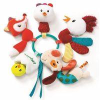 Pozostałe zabawki dla najmłodszych, Zawieszka wielofunkcyjna ze światełkiem LED Lilliputiens - Farma L86780