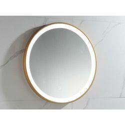 Okrągłe lustro łazienkowe z podświetleniem LED NUMEA złote - Dł. 60 x Wys. 60