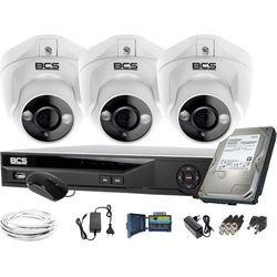 ZM11972 Monitoring kamera 3x BCS-DMQE1500IR3-B BCS-XVR04014KE-II 1TB