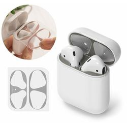 Ringke 2x folia ochronna naklejka osłony przeciw kurzowi do etui bazy słuchawek Apple AirPods 2 / AirPods 1 szary (ACER0002)