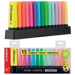 Zakreślacz Boss zestaw 15 kolorów STABILO