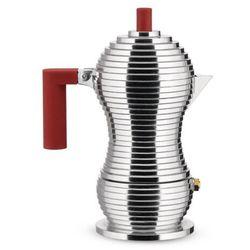 Zaparzacz do espresso Pulcina z czerwonym uchwytem 300 ml