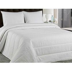 Pikowana narzuta na łóżko PERIGORD 230 × 250 cm z 2 poszewkami 60 × 60 cm – kolor biały