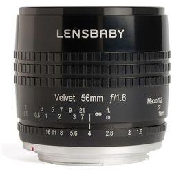 Lensbaby LB-v56bm Velvet 56 obiektyw do złącza micro Four Thirds Czarny