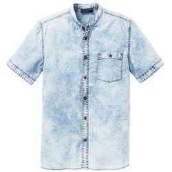 """Koszula dżinsowa z krótkim rękawem Slim Fit bonprix niebieski """"moon"""""""