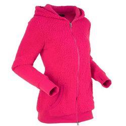 """Bluza z polaru """"baranek"""", długi rękaw bonprix różowoczerwony"""