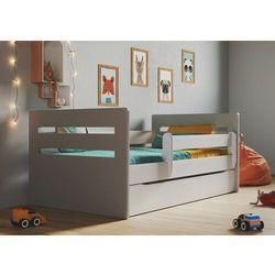 Łóżko dla dziecka, barierka ochronna, tomi mix, szary, biały, mat