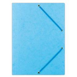 Teczka z gumką OFFICE PRODUCTS, preszpan, A4, 390gsm, 3-skrz., jasnoniebieska