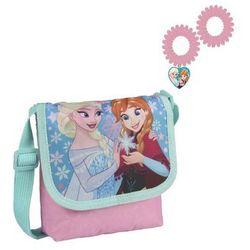 Torebka na ramię + gumki do włosów Frozen - Kraina Lodu