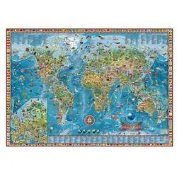 Dziecięcy świat - Ilustrowana mapa świata, mapa magnetyczna