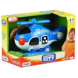 Helikopter policyjny z Dźwiękiem Policja - Lean Toys