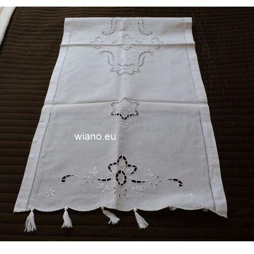 Ręczniki, Ręcznik ludowy haftowany, mereżka 128x46 cm (czk-3)