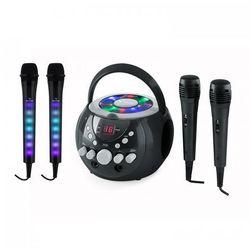 Auna SingSing zestaw do karaoke czarny Kara Dazzl zestaw mikrofonów LED