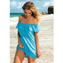 Sukienka - pareo self d 56s rozmiar: xl/xxl-42/44, kolor: biały, self