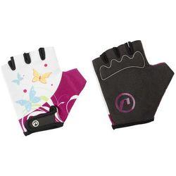 Rękawiczki dziecięce Accent Daisy biało-fioletowe S/M