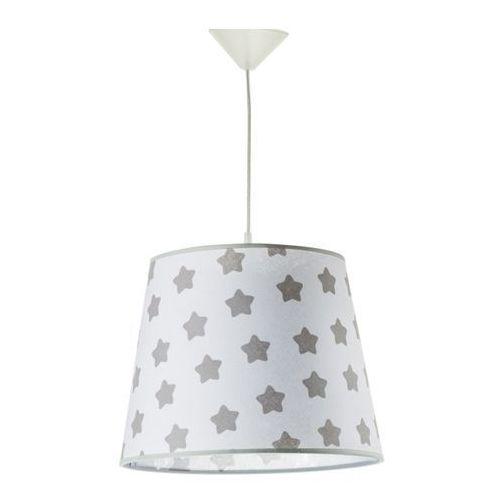 Lampy sufitowe, Lampa wisząca 1 x 40 W E27 szare gwiazdy
