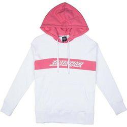 bluza SANTA CRUZ - Classic Strip Hood White/Rose (WHITE-ROSE)