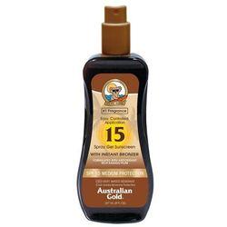 ochrona przecwisłoneczna do ciała australian gold ochrona przecwisłoneczna do ciała spray gel bronzer sonnencreme 237.0 ml marki Australian gold