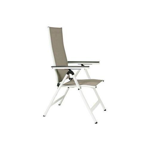 Krzesła ogrodowe, Krzesło ogrodowe składane aluminiowe VERONA VETRO - białe